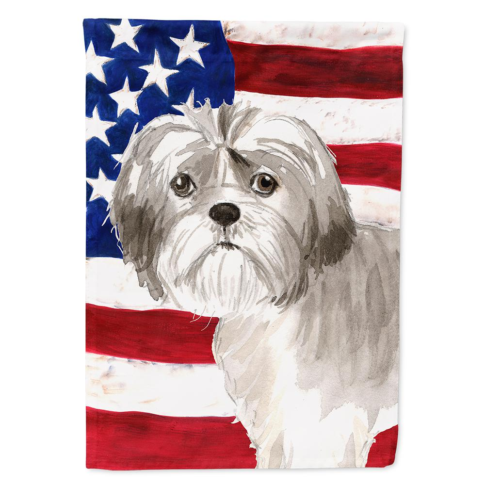 Carolines Treasures 23 Ft X 33 Ft Polyester Patriotic Usa Shih