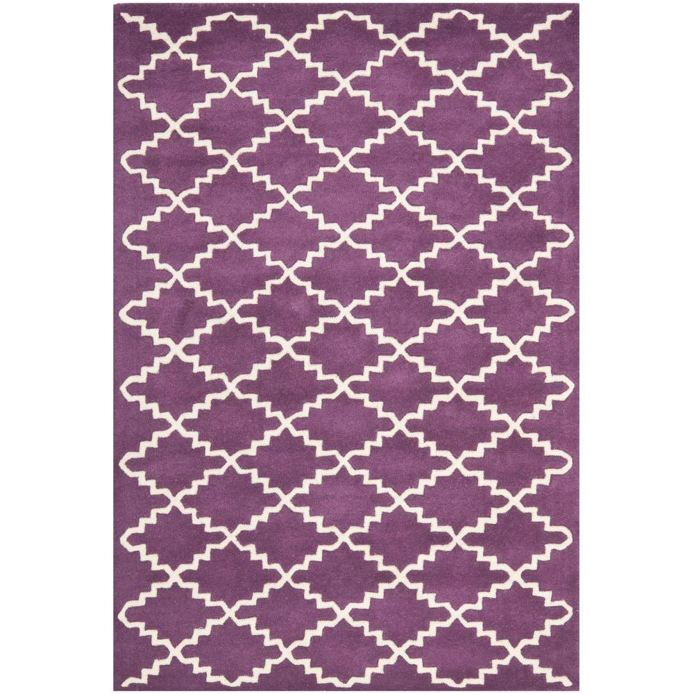 Chatham Purple/Ivory 4 ft. x 6 ft. Area Rug