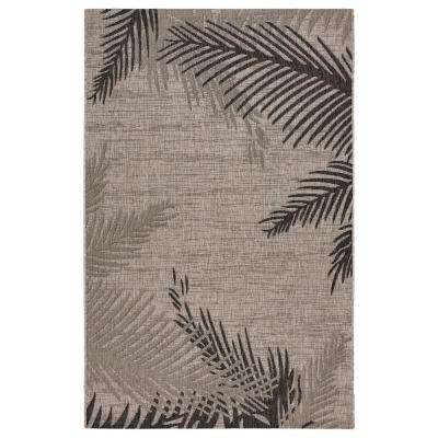 Captiva Beige/Black 7 ft. 9 in. x 9 ft. 5 in. Rectangle Indoor/Outdoor Area Rug
