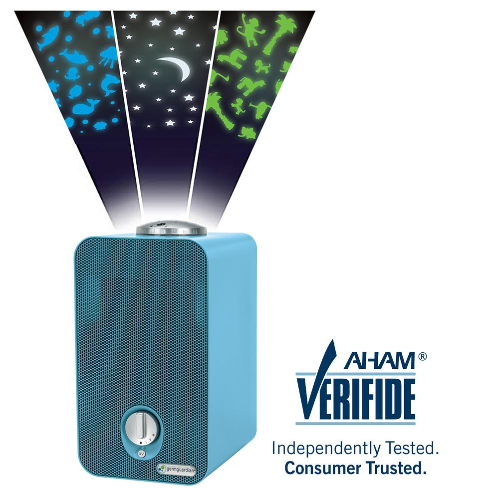 GermGuardian 4-in-1 Night-Night HEPA Air Purifier System with Projector and 11 in. Table Top Tower