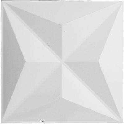 3/4 in. x 11-7/8 in. x 11-7/8 in. PVC White Kent EnduraWall Decorative 3D Wall Panel