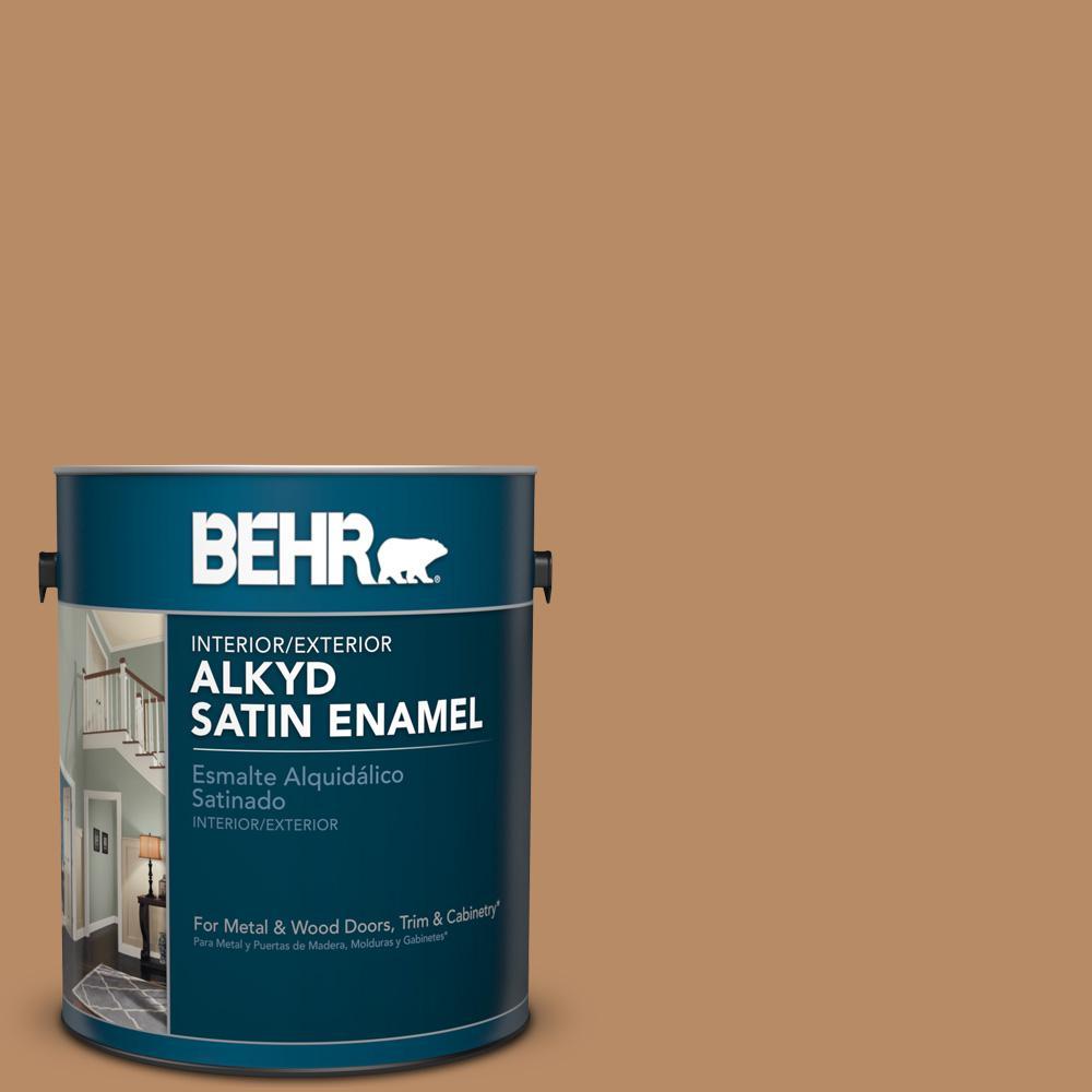 1 gal. #AE-23 Light Oak Satin Enamel Alkyd Interior/Exterior Paint