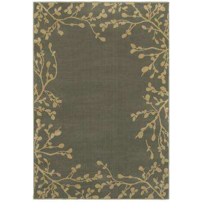 Arbor Vine Blue 2 ft. x 3 ft. Area Rug