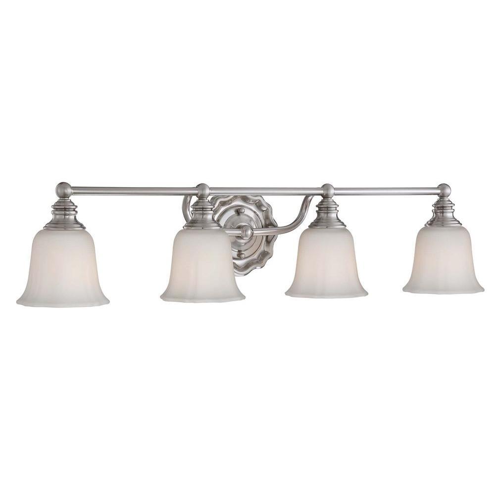 Home Decorators Collection Lamport 4-Light Brushed Nickel Bath Light