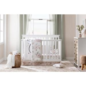 South S Dreamit 4 Piece White And Pink Fl Twin Baby