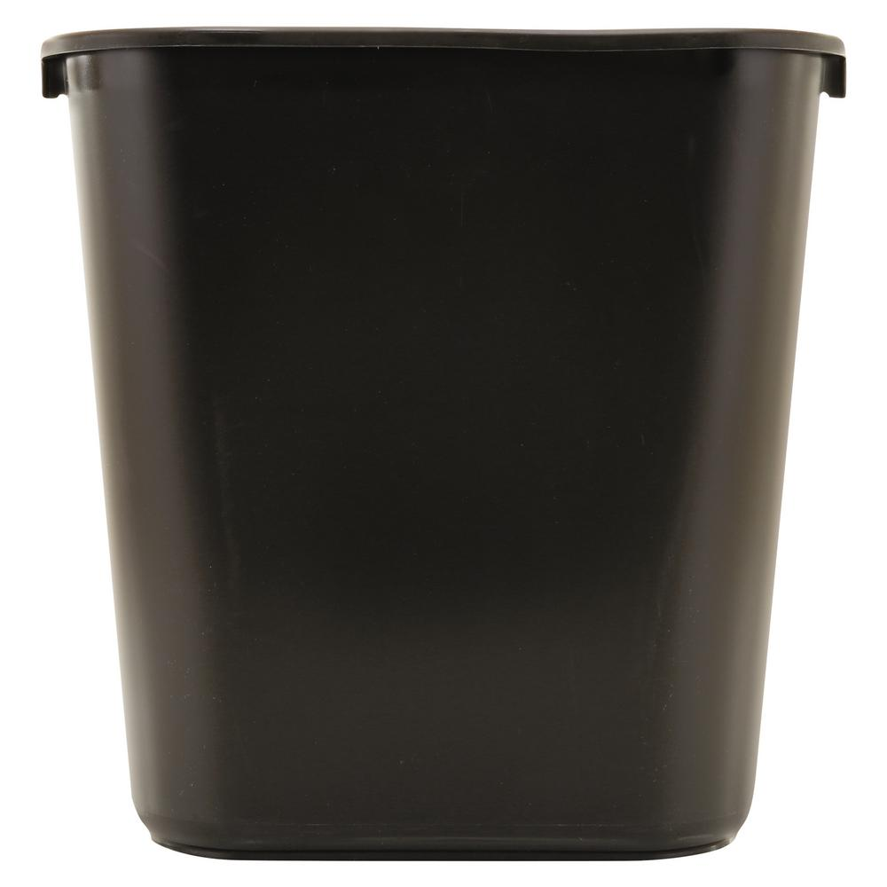7 Gal. Black Rectangular Trash Can