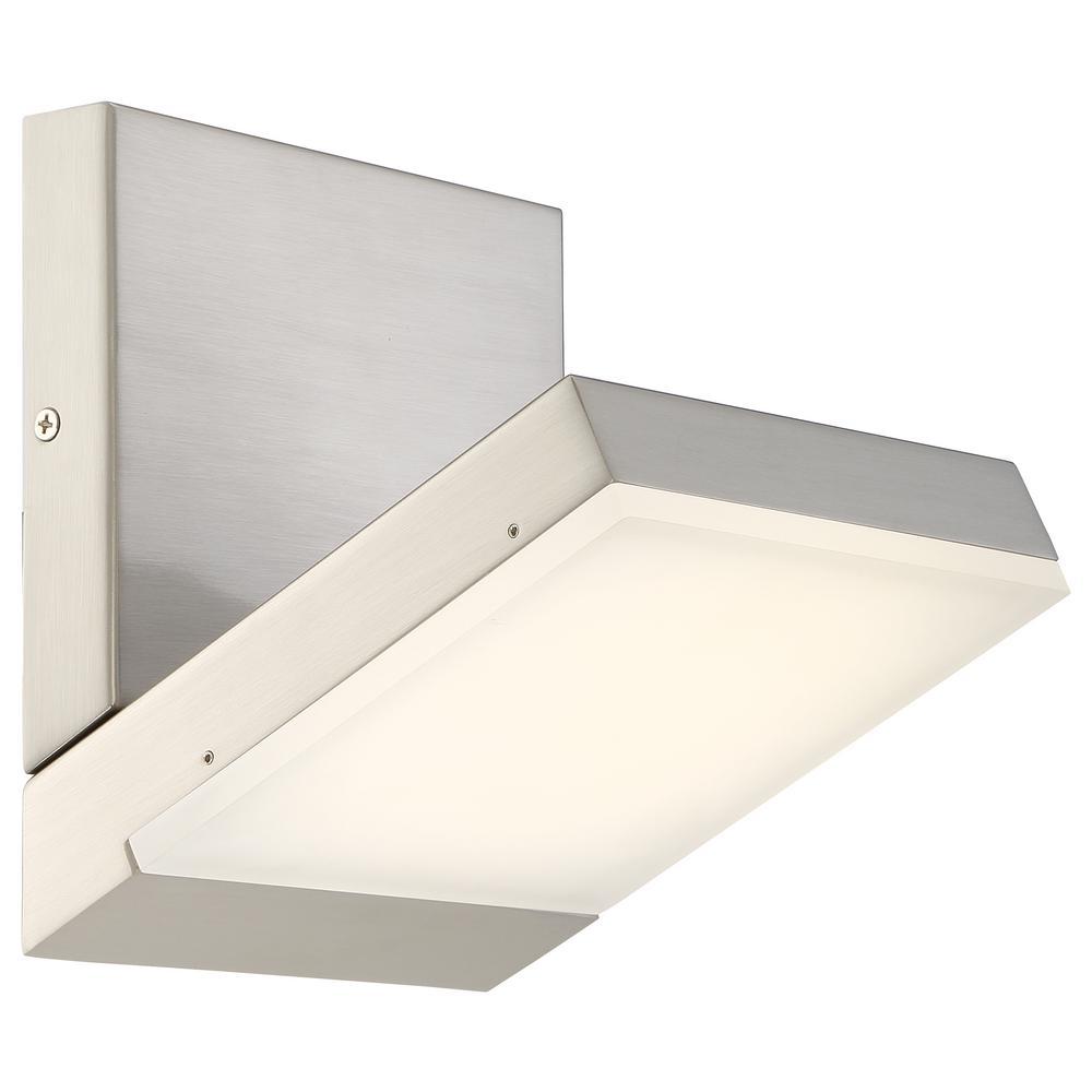 Angle LED 22-Watt Brushed Nickel Integrated LED Bath Light