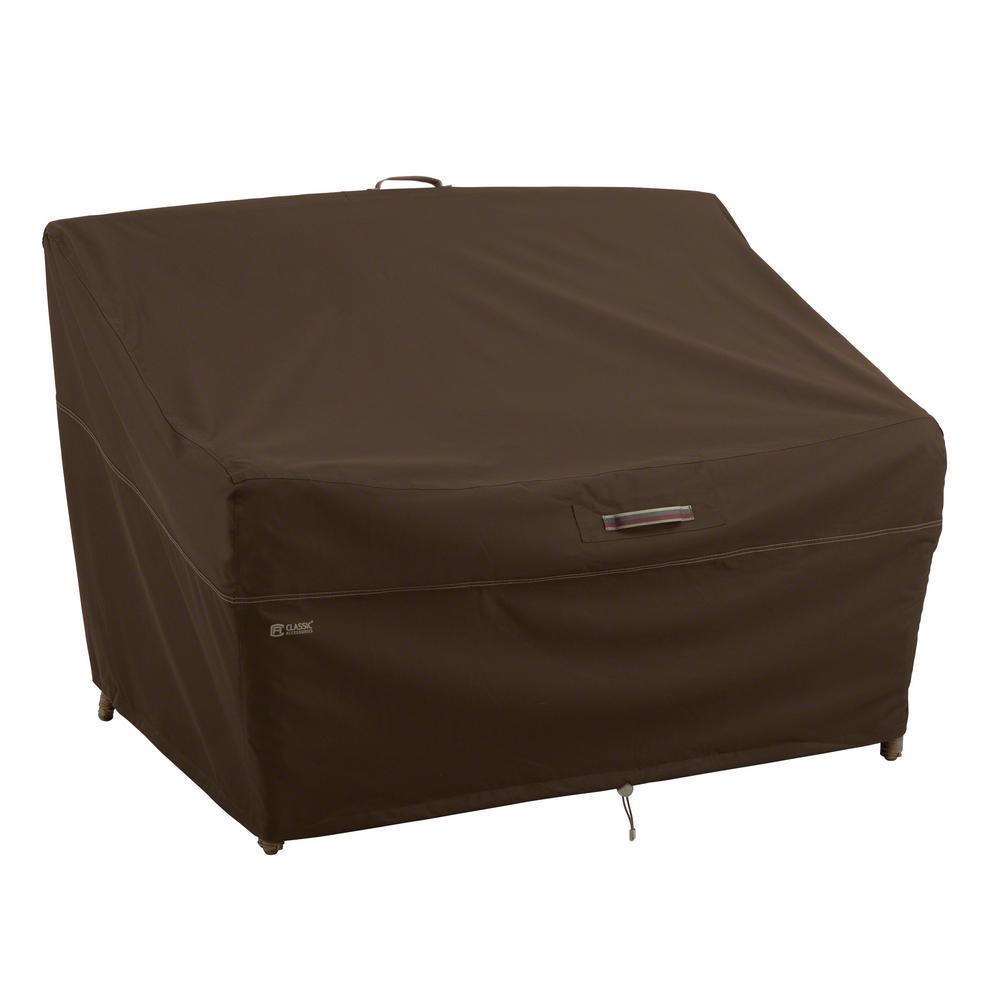 Madrona Rainproof 76 in. Patio Deep Loveseat Cover