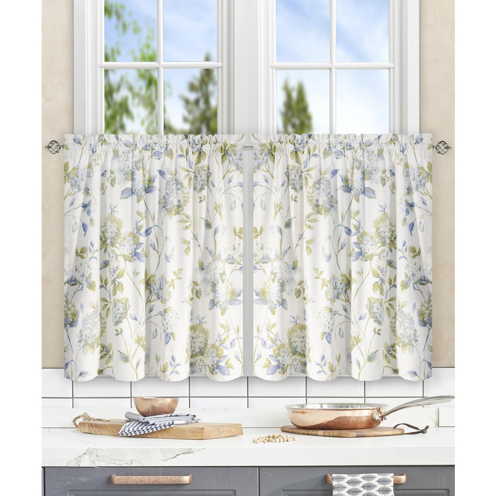 Abigail Porcelain Polyester/Cotton Tailored Tier - 56 in. W x 36 in. L