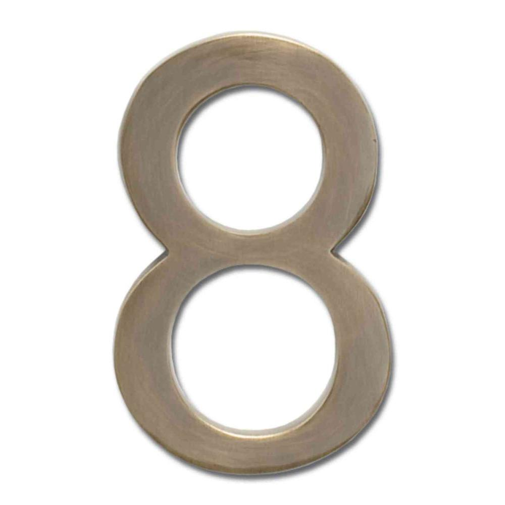 Architectural Mailboxes 5 in. Antique Brass Floating House Number 8