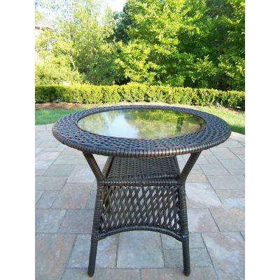 Elite Coffee Wicker Outdoor Side Table