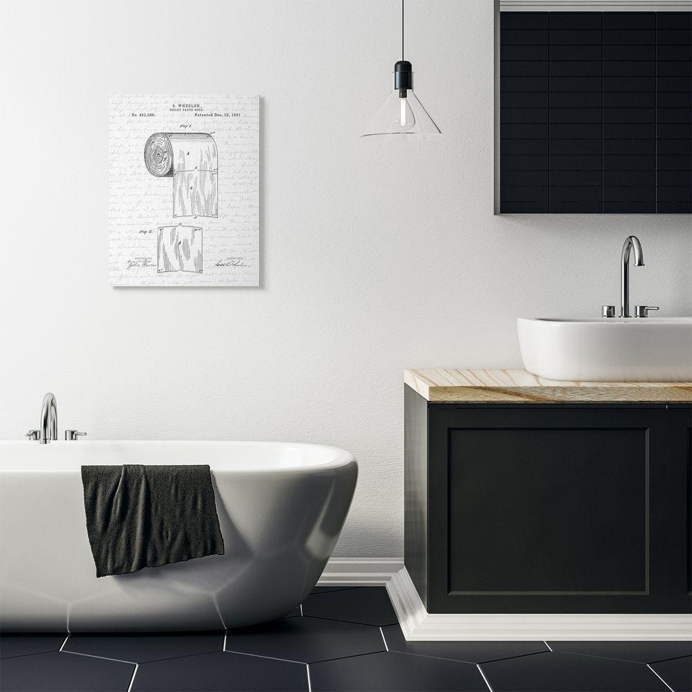 Toilet Paper Roll Patent Black