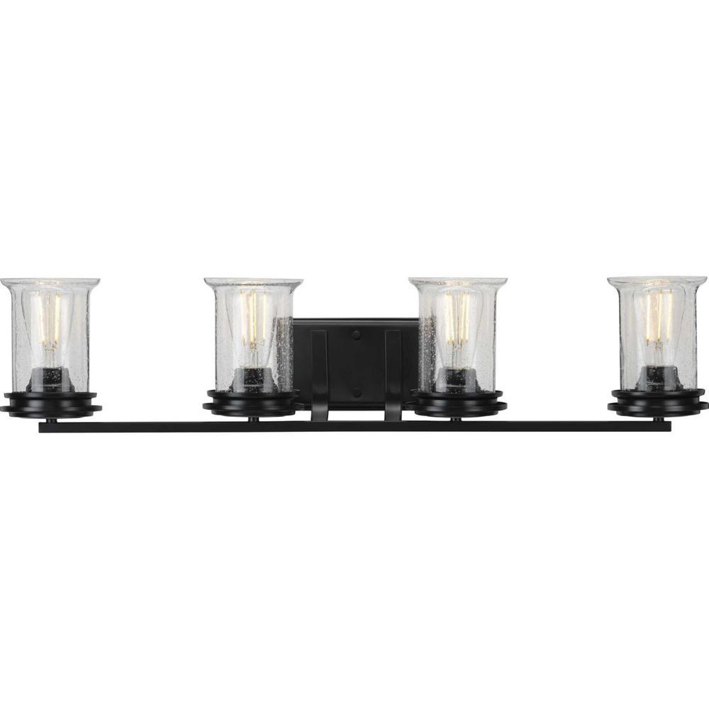 Winslett 4-Light Black Bath Light