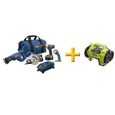 18-Volt ONE+ Super Combo with Free ONE+ Inflator