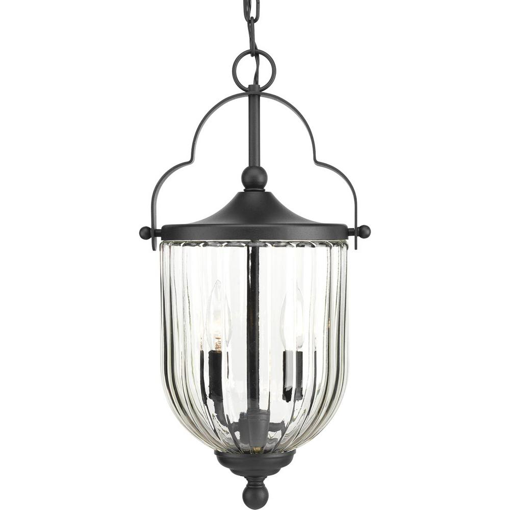 McPherson Collection Black 3-Light Outdoor Hanging Lantern