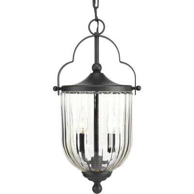 McPherson Collection Black 3-Light Outdoor Hanging Lantern