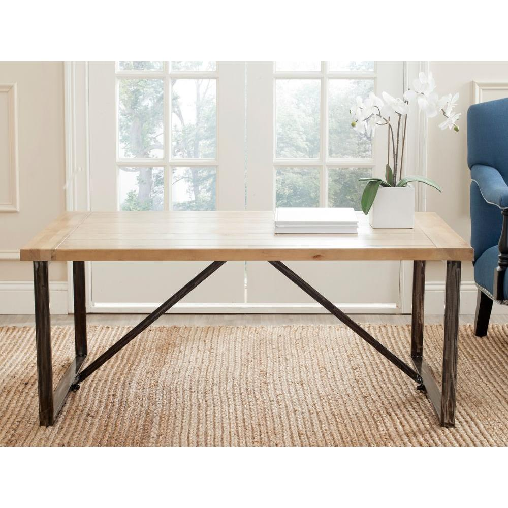 Light Colored Wood Coffee Table.Safavieh Chase Light Oak Stain Coffee Table Amh4129a The Home Depot