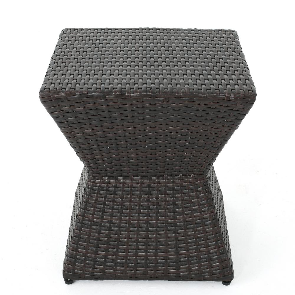 Noble House Square Wicker Outdoor Side Table