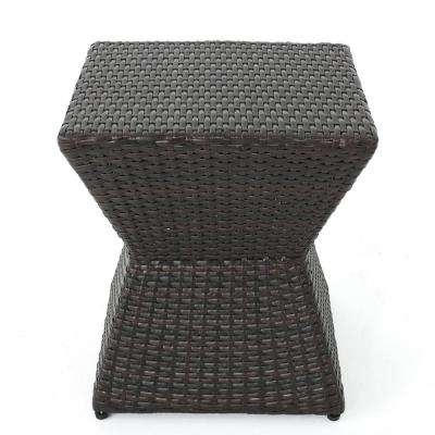 Square Wicker Outdoor Side Table