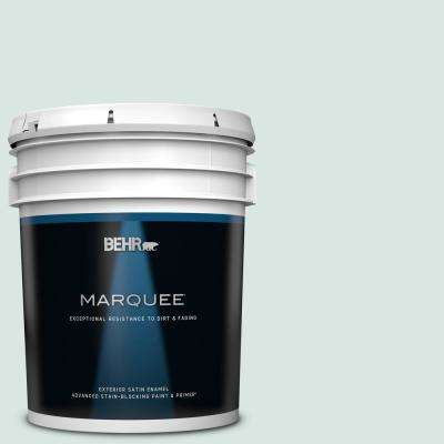 5 gal. #MQ3-51 Crystalline Falls Satin Enamel Exterior Paint and Primer in One