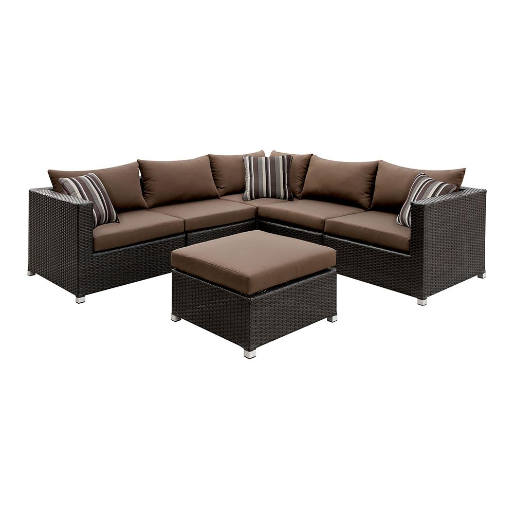 Venetian Worldwide Seating Set Brown Cushions
