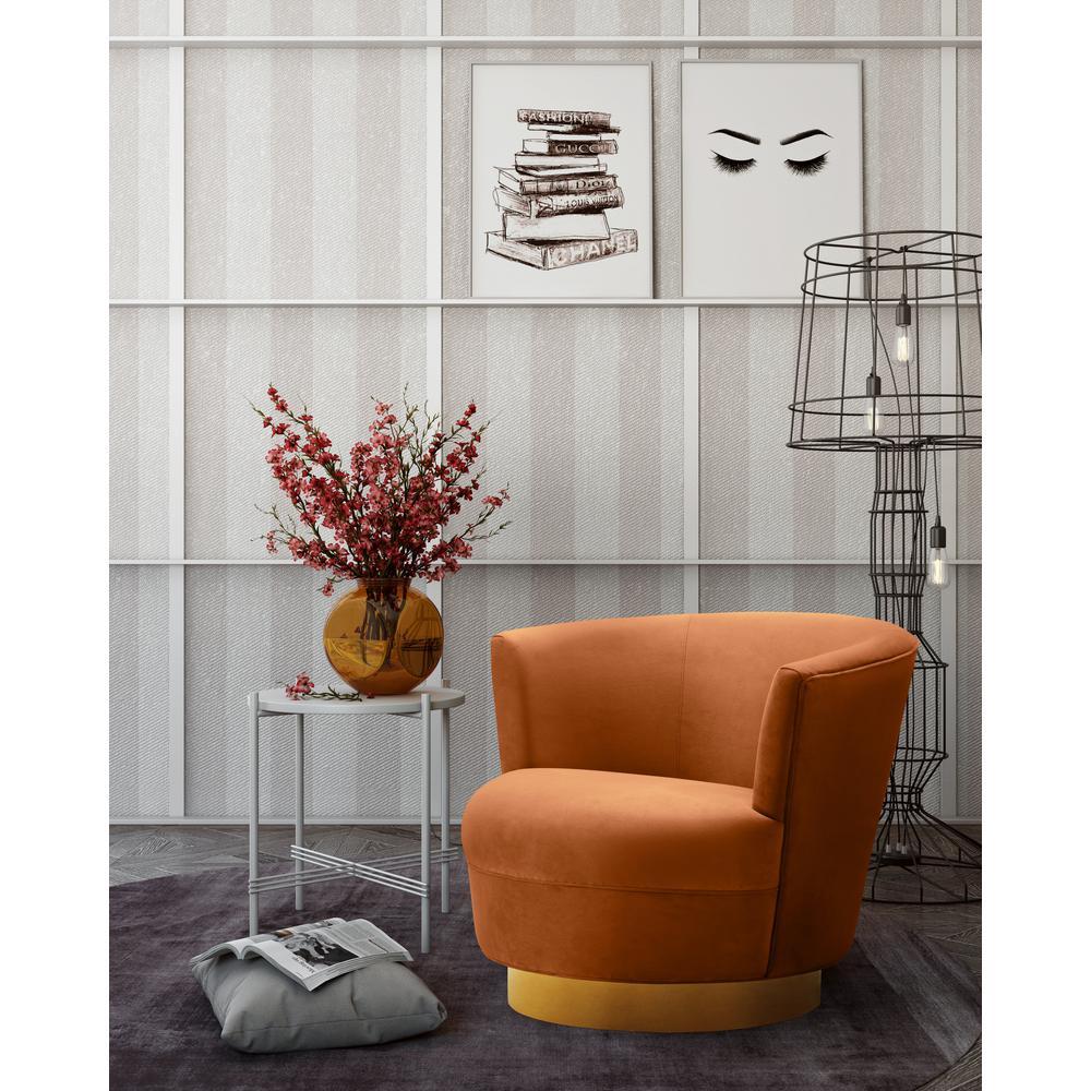 Noah Medallion Velvet Swivel Chair
