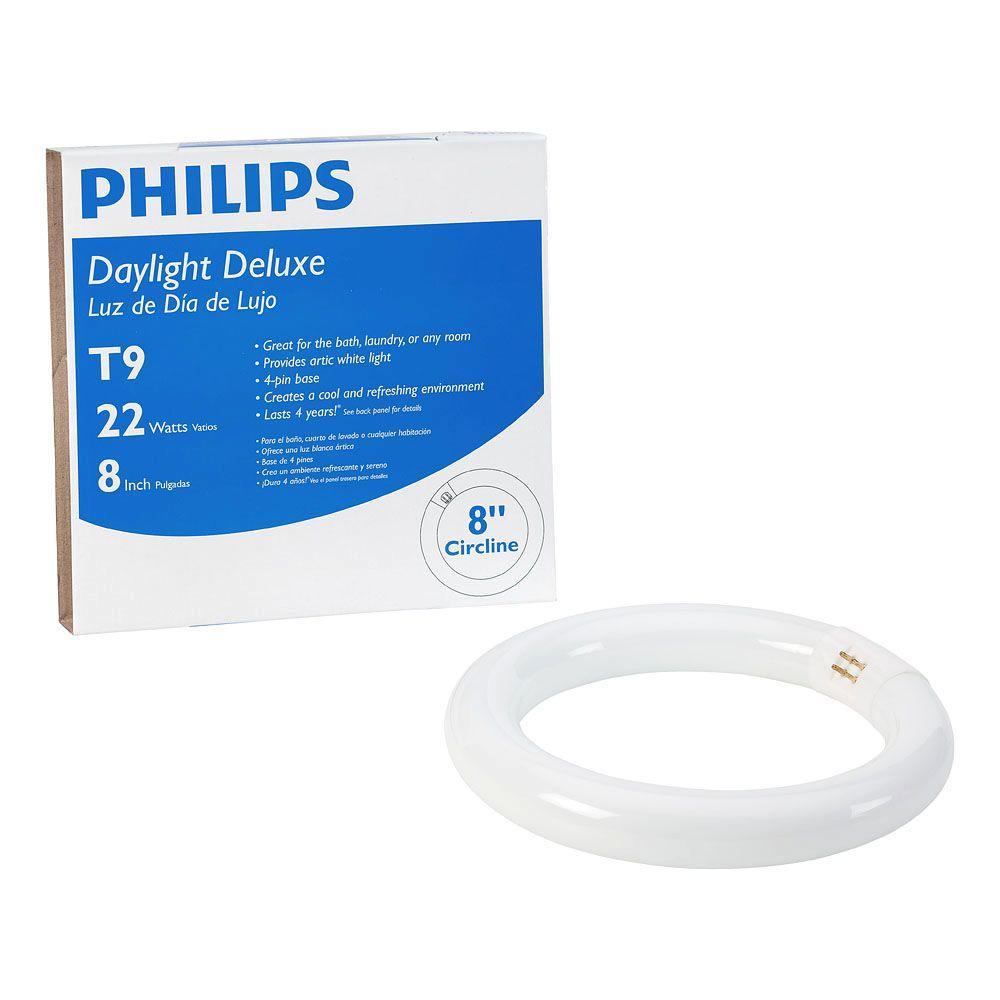 Philips Philips 22-Watt 8 in. Linear T9 Fluorescent Tube Light Bulb Daylight Deluxe (6500K) Circline