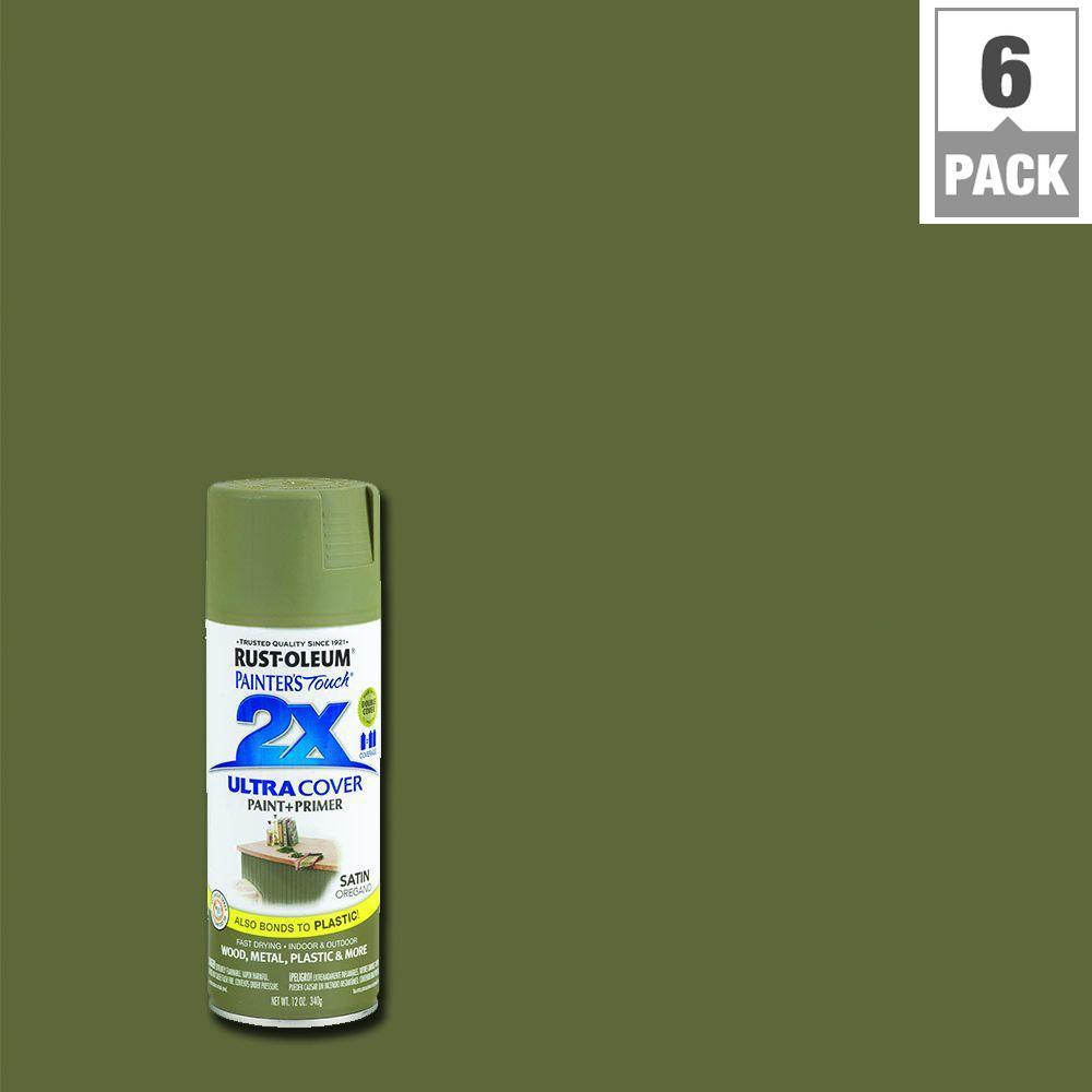 12 oz. Satin Oregano General Purpose Spray Paint (6-Pack)