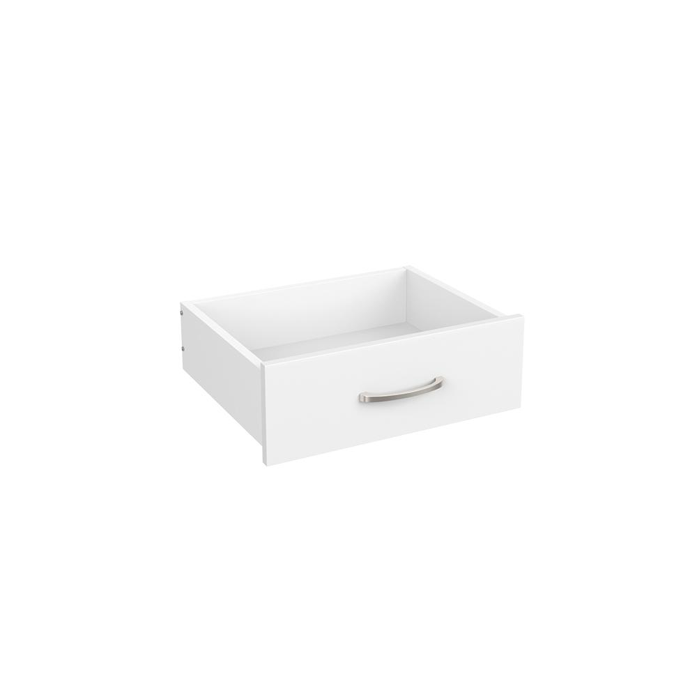 Easentials 6.18 in. H x 17.99 in. W White Melamine Casual