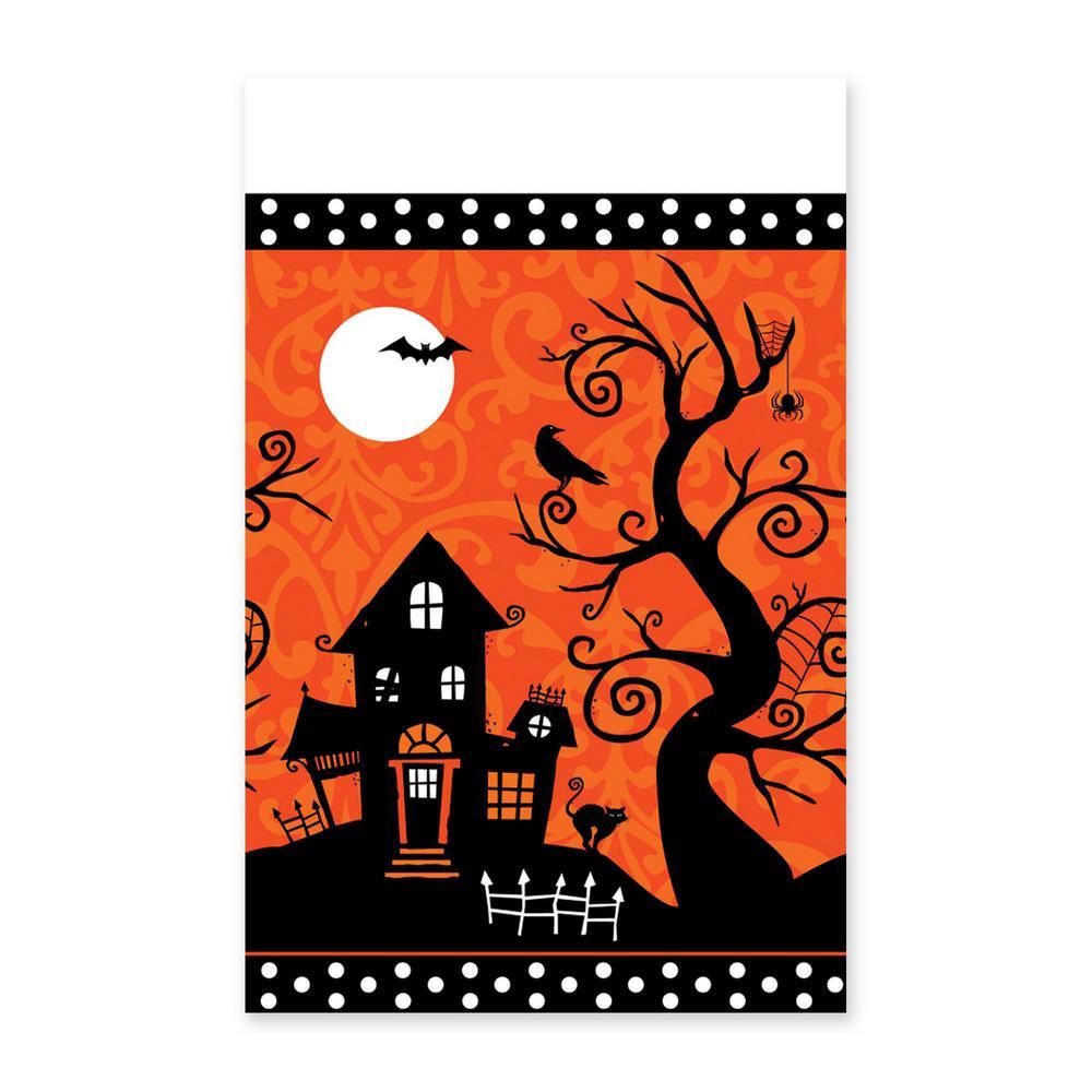 Halloween Frightfully Fancy Rectangular Table Cover (3-Pack)