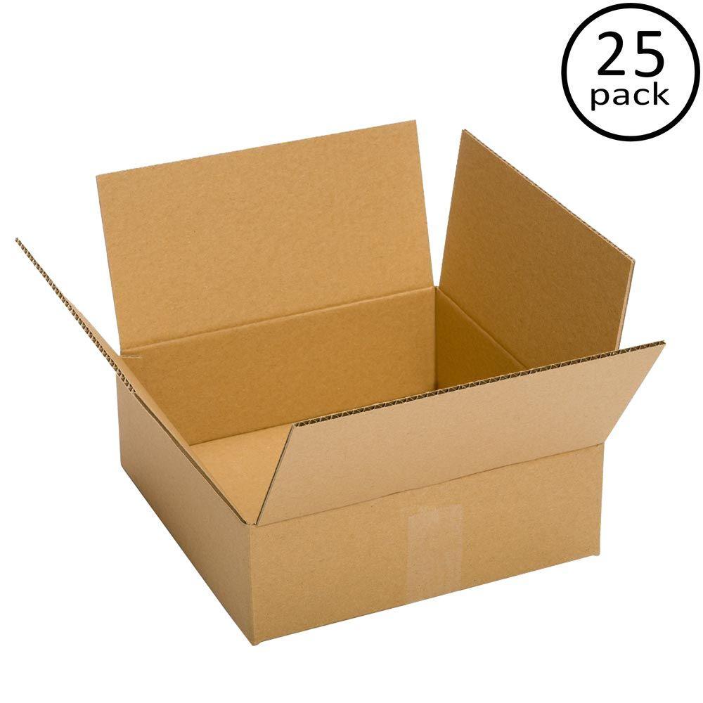 25 Moving Box Bundle (13 in. L x 13 in. W x 4 in. D)