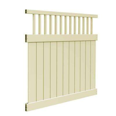 Missouri 6 ft. H x 6 ft. W Sand Vinyl Fence Kit