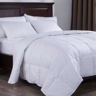 Lightweight Down Comforter King in White