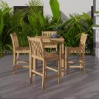Eden Teak 5-Piece Patio Bar Set