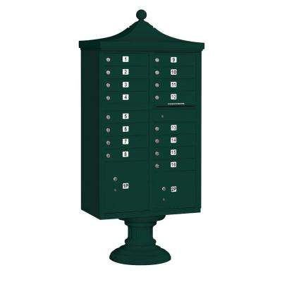 3300R Series Green Private 16 A Size Doors Type III Regency Decorative Cluster Box Units