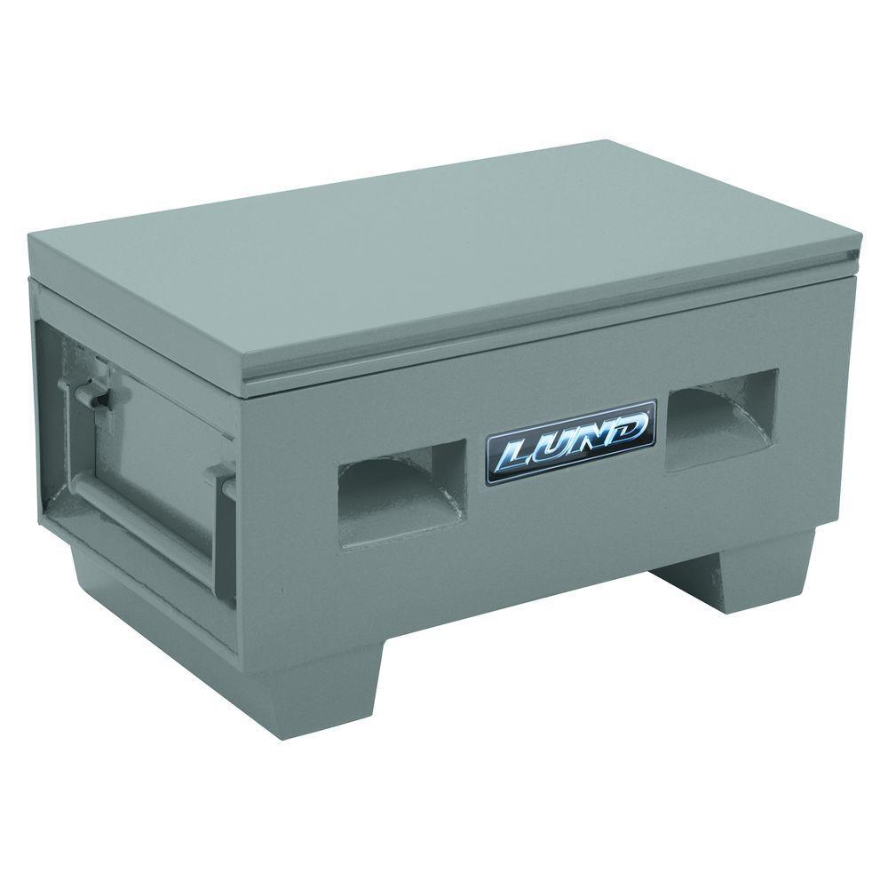 32 in. Heavy-Duty Steel Job Site Box, Gray