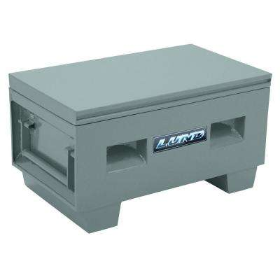 32 in. Heavy-Duty Steel Job Site Box, Gray
