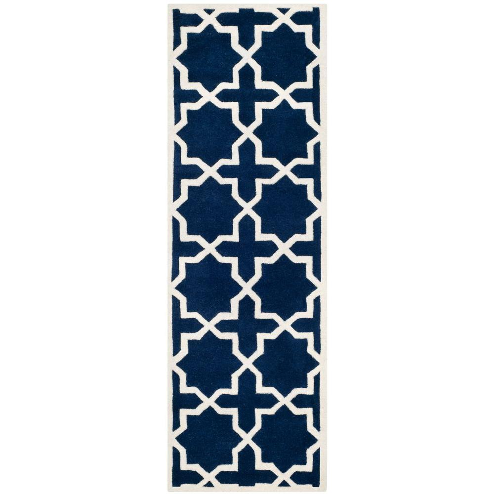 Chatham Dark Blue/Ivory 2 ft. 3 in. x 11 ft. Runner