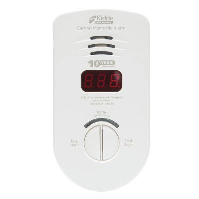 10-Year Worry Free Plug-In Carbon Monoxide Detector with Battery Backup and Digital Display