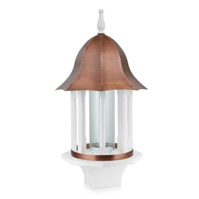 Manor Extra-Large Bird Feeder with Pure Copper Roof, 8 lbs. Seed Capacity