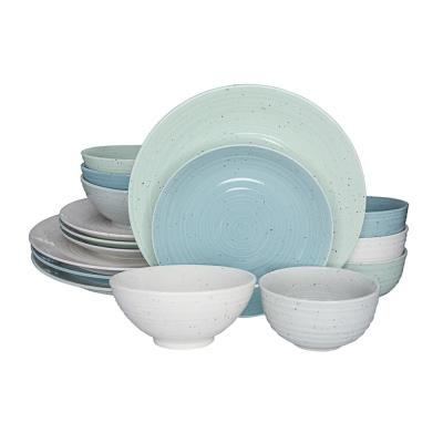 Siterra Artist's Blend 16-Piece Casual Mixed Stoneware Dinnerware Set (Service for 4)