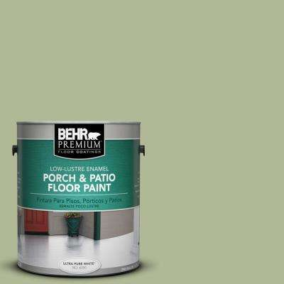 1 gal. #PPU11-08 Moss Print Low-Lustre Interior/Exterior Porch and Patio Floor Paint