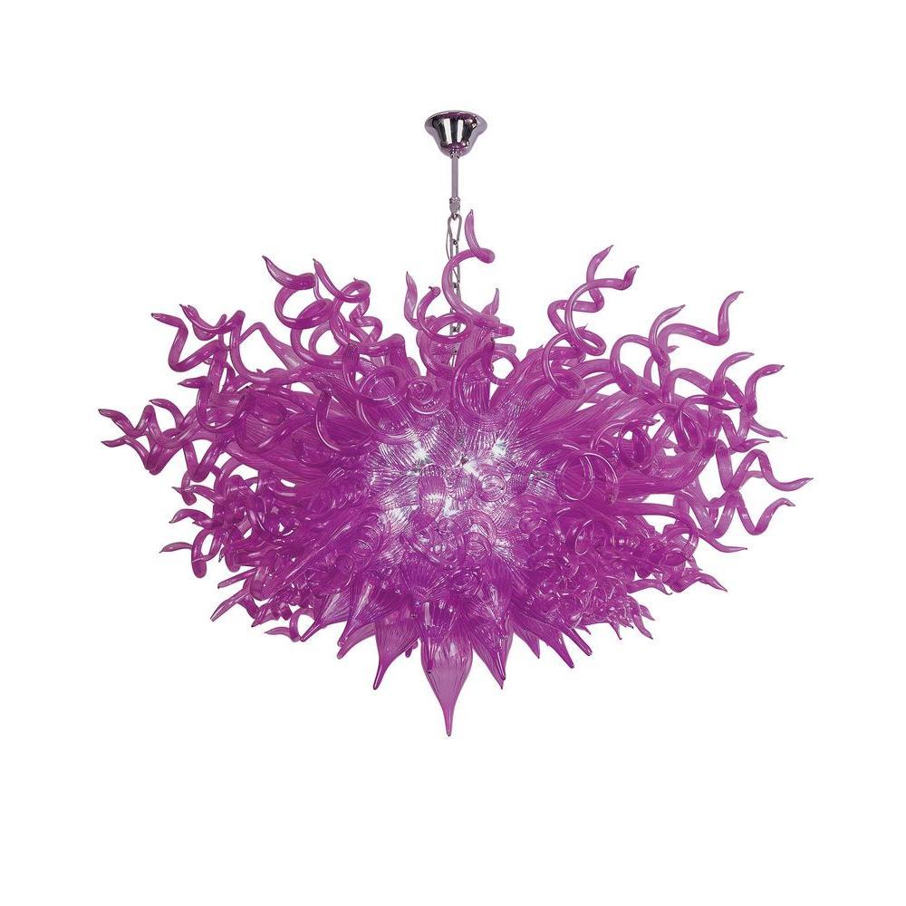 Modern purple starburst pendant lights lighting the home depot xavier 15 light violet pendant aloadofball Images