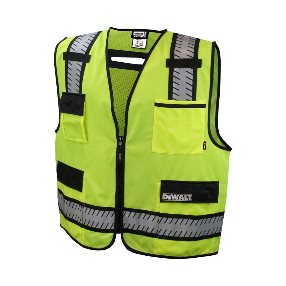 Large High Visibility Green Class 2 Standard Surveyor Vest