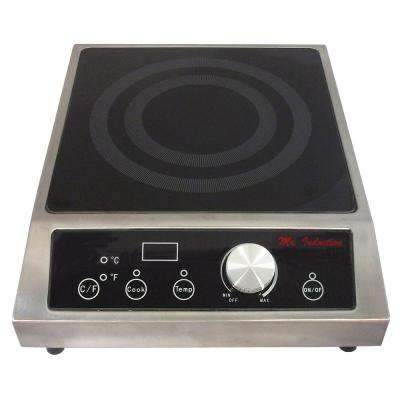 12.6 in. Countertop Electric Cooktop in Black with 1 Element