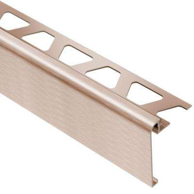 Rondec-Step Brushed Copper Anodized Aluminum 5/16 in. x 8 ft. 2-1/2 in. Metal Tile Edging Trim