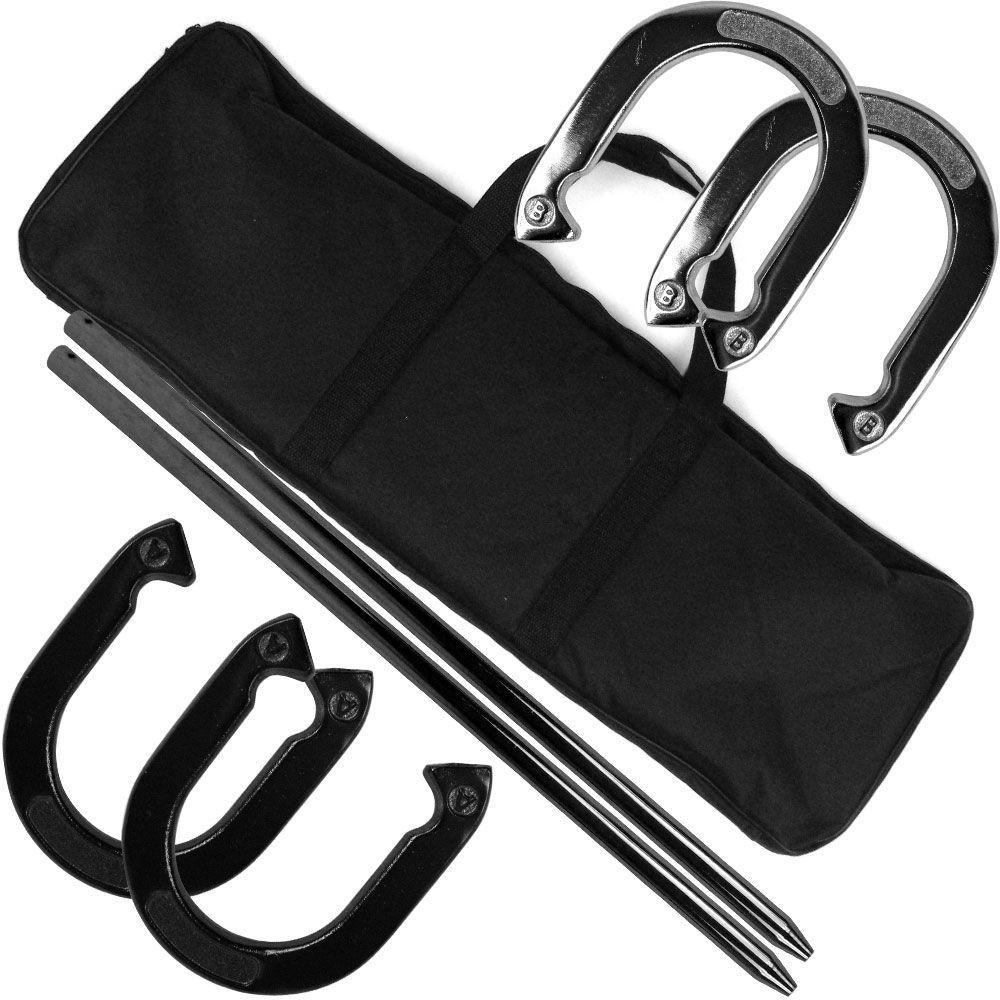 Trademark Games Professional Horseshoe Toss Set with Carrying Case