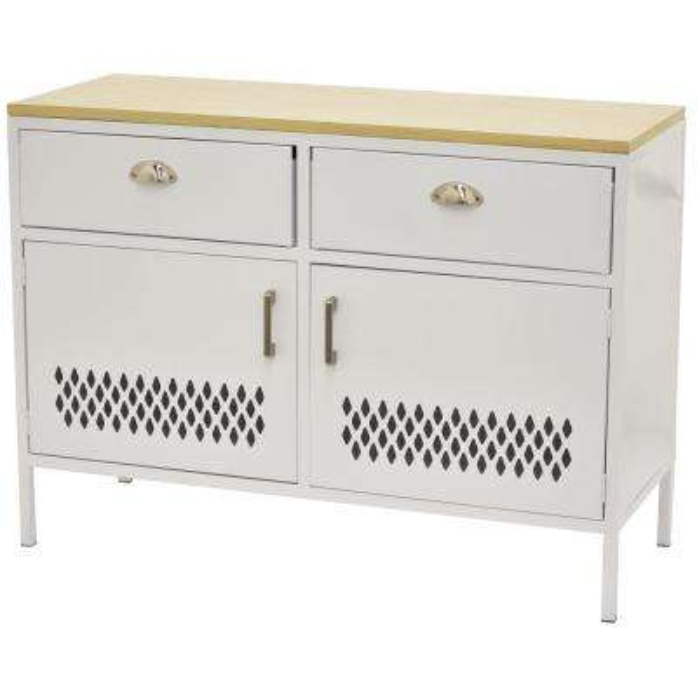 29 in. White Metal Storage Cabinet