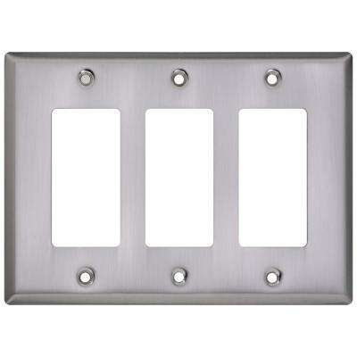 3 Rocker Wall Plate - Satin Nickel