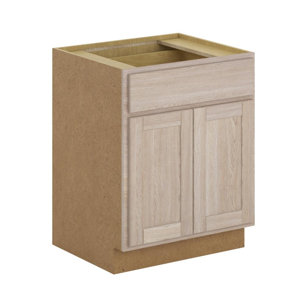 Hampton Bay Stratford Assembled 27x34.5x24 in. Base Cabinet with ...